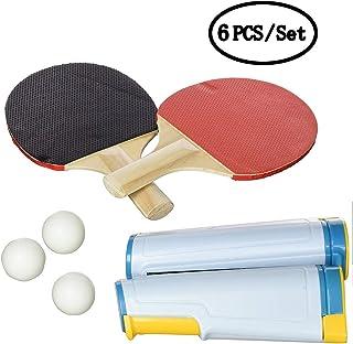 finest selection 9fde7 c6624 KAIMENG Ensemble de Jeu Complet pour Tennis de Table Portable, Poteaux de  Balles Paddles Net