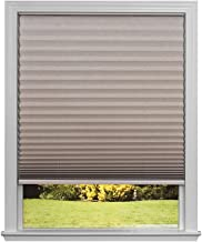 Easy Lift Trim-at-Home Cordless Pleated Light Blocking Fabric Shade Natural, 36 in x 64 in, (Fits windows 19