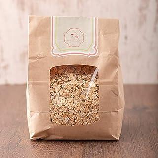 süssundclever.de Bio Vier-Flocken Mischung | Dinkel-Gerste-Hafer-Roggen | 2 kg 2 x 1kg | plastikfrei und ökologisch-nachhaltig abgepackt