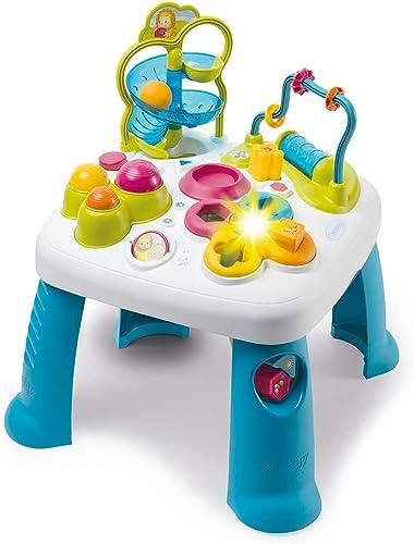 Smoby - Cotoons Table d'Activités - Fonctions Electroniques et Mécaniques - Trieur de Formes - Jouet pour Bébé dès 12...