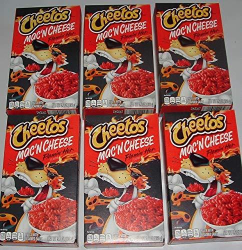 Cheetos Mac'n Cheese Flamin' Hot flavor (5.6 Oz box, 6 Pack)