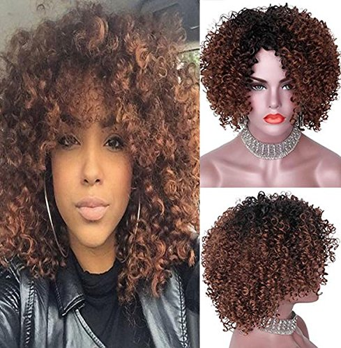 'Party Queen Afro rizos. pelucas sintéticas Brown