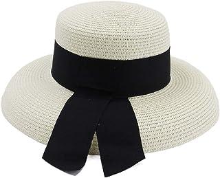 2019 Mens Womens Hats Womens Summer Sun Hat for Womens Hepburn Wind Big Niece Outdoor Travel Beach Holiday Seaside Visor Black Belt Hat Fedora Lady Fashion Casual Lightweight