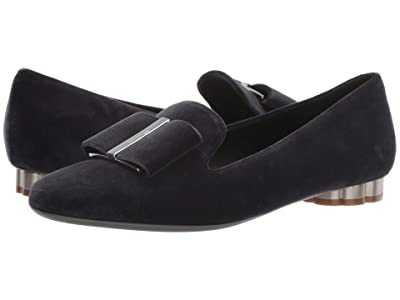 Salvatore Ferragamo Sarno Bow Loafer (Soot/Flannel) Women