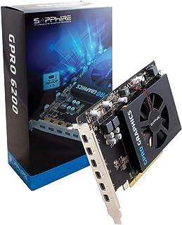 Sapphire GPRO 6200 4 GB GDDR5 - Tarjeta gráfica (4 GB, GDDR5, 128 bit, 4096 x 2160 Pixeles, PCI Express x16 3.0, 1 Ventilador(es))
