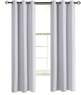 Aquazolax Blackout Curtains Window Drapes Solid Blackout Thermal Curtain Panels 42