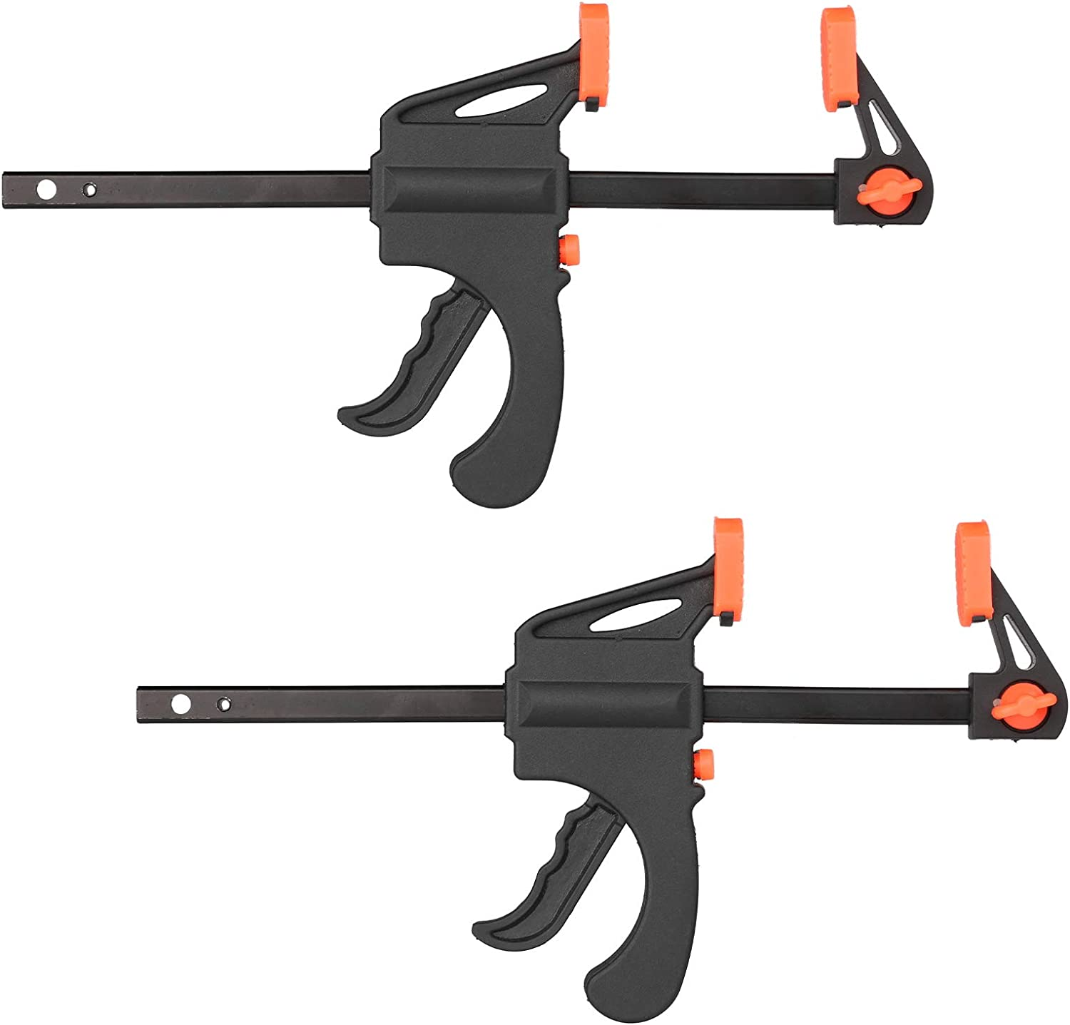 DIY Projects Quick Grip Clamps 4 Inch Ratchet Bar Clamps Woodworking Grip Clamps One Handed F Woodwork Clamp for Woodworking 6 Pack