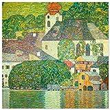 JUNIWORDS Poster, Gustav Klimt, Kirche in Unterach am