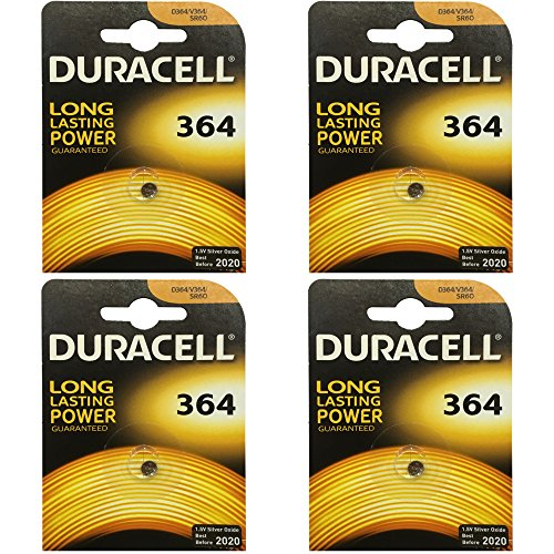 4x Duracell 364 1.5v Silver Oxide Watch Battery Batteries SW621SW D364 V364 SR60