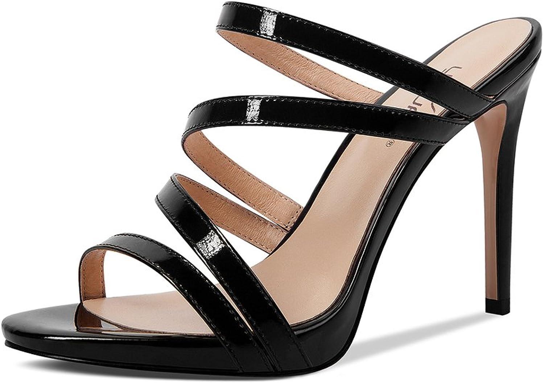 JE -skor Sandaler Stiletto klackar Sandals Patent läder skor skor skor Europe och Amerika 9cm  bara köpa den