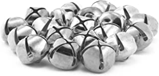 0.25 Inch 6mm Tiny Silver Craft Jingle Bells Bulk 100 Pieces