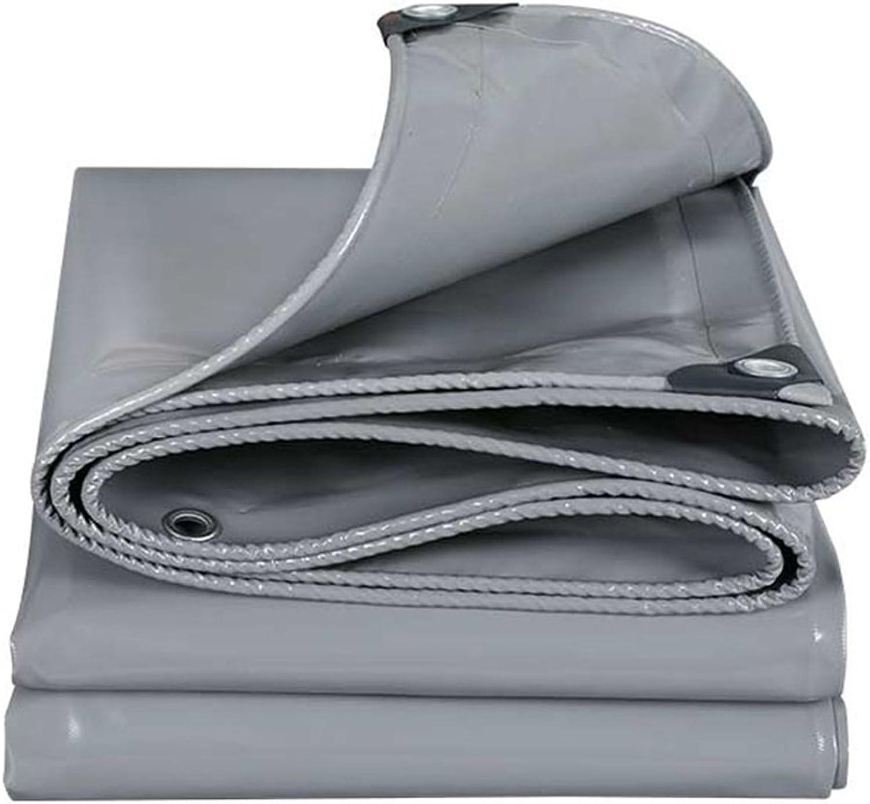 Plane Persenning Multifunktions starke graue wasserdichte Plane Bodenplane Abdeckungen für Camping, Angeln, Gartenarbeit, Dicke 0,45 mm Abdeckplanen (größe   6MX8M) B07PGDHQTX  Geeignet für Farbe