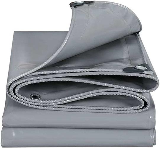 Baches Couvertures de sol moulues imperméables grises multifonctionnelles fortes pour le camping, pêche, jardinage, épaisseur 0.45mm Couverture de piscine (taille   4MX5M)