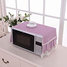 Gouen Anti Oil Hood Protección de la Cubierta del Horno de microondas Decoración de la Cocina Comedor Simple Accesorios para el hogar Bordado de Encaje a Prueba de Polvo, púrpura