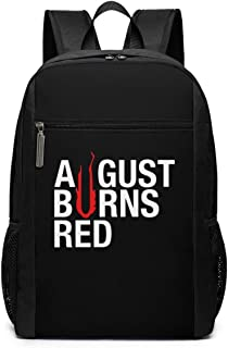 Mochila Mochila de Viaje August Burns Red Backpack Laptop Backpack School Bag Travel Backpack 17 Inch