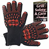 Premiala Amazing BBQ Gloves 14' can Stay on While BBQ'ing for Perfectly timed Cooking - 2...