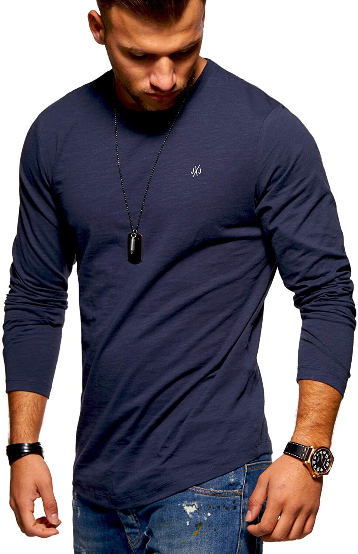 Jack /& Jones Herren Langarmshirt Oversize Longshirt O-Neck Herrenshirt Casual