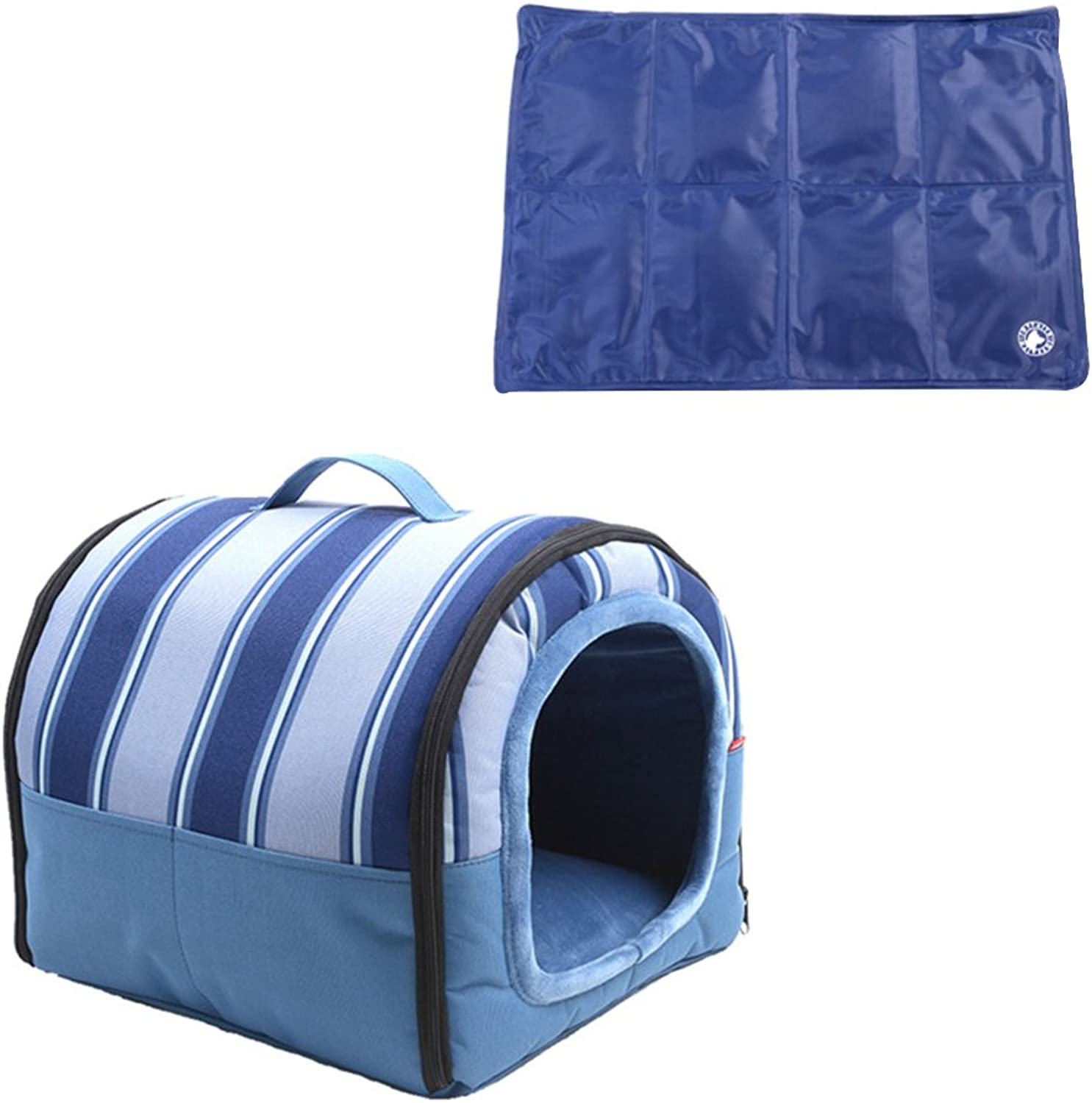 Pet Supplies Waterproof kennel, small and medium dog pet house, pet house in Oxford cloth, pet house in spring, summer, autumn and winter (color   B, Size   S)