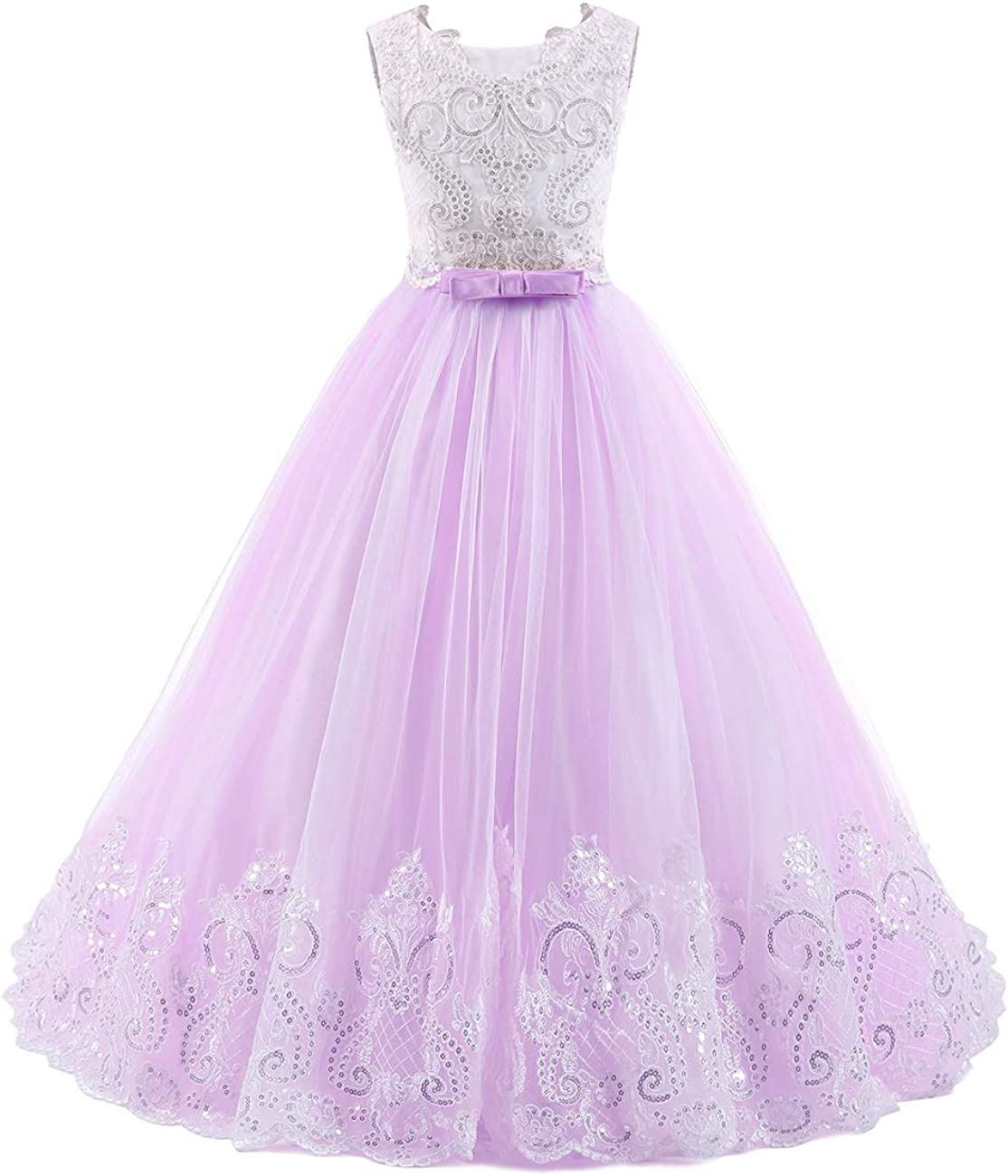 Flower Girl Dress for Wedding Party Dresses Princess Tulle Dress Long Girls Pageant Dresses