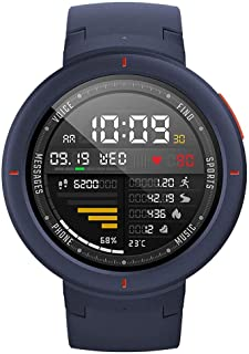 Amazfit Verge Smartwatch by Huami with GPS Plus GLONASS All-Day Heart Rate and Activity Tracking, Sleep Monitoring, 5-Day ...