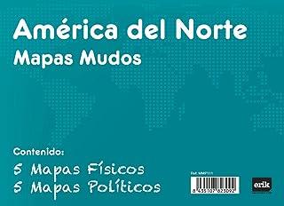 Grupo Erik Editores Pack 10 Mapas Mudos America Del Norte Politica Fisica