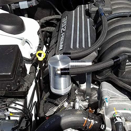 2011-21 6.4 Billet Catch Can New HEMI Technology Z-Bracket Scat Pack Shaker Hood Silver
