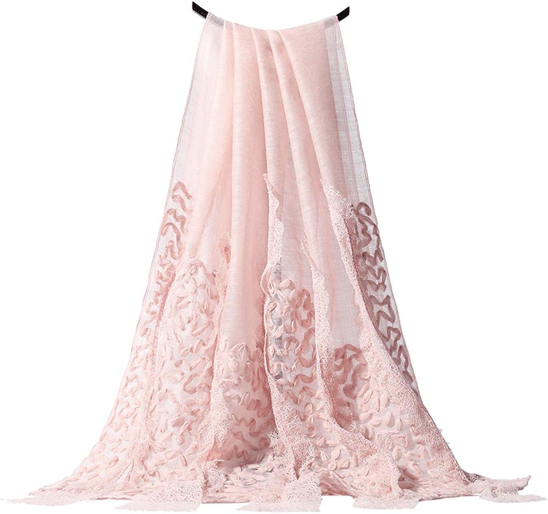 Stoles Scarf Silk Wool Shawl Silk Blended Shawl Summer Silk Scarf Wool Scarf Ladies Light Luxury Fashion Print Scarf (color   Pink, Size   190  60cm)
