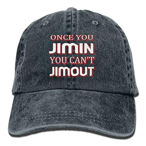 Broderick Tate Once You Jimin You Can't Jimout4 Adult Adjustable Printing Cowboy Baseball Hat Navy