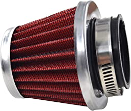 AHL Red 42mm Warehouse Performance Air Filter Pod / 150cc-250cc Motorcycle Scooter ATV Dirt Bike(1pc)