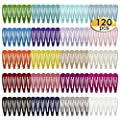 120 Pack 2 Inch Snap Hair Clips Hair Barrettes Solid Candy Color Snap Barrettes for Girls Kids Women in 20 Colors