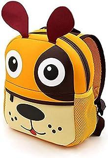 Goodsforgood Mochila Impermeable de Neopreno para niños Infantil Preescolar jardín Infantil guardería 2-7 años Regalo Viaje 26x24 cm (Perro) (Naranja)
