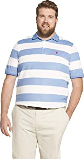 IZOD Men's Tall Big Fit Advantage Performance Striped Polo Shirt