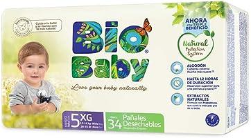 Pañales BioBaby Talla 5 Extra Grande Unisex, 136 piezas