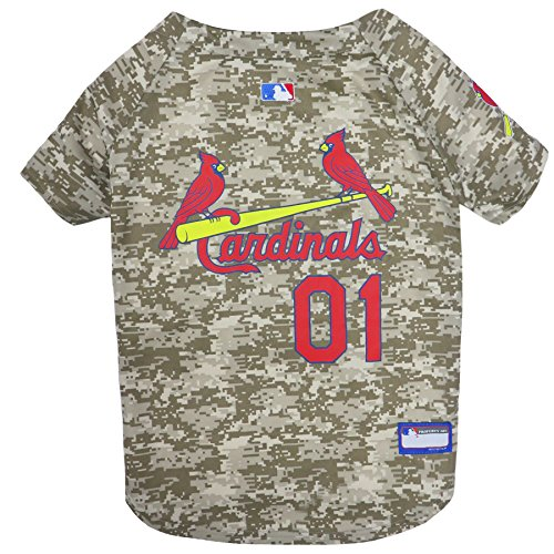 MLB Camo Jersey for Dogs - Saint Louis Cardinals Hunting Jersey, X-Large. - MLB Team Logo Camouflage PET Jersey