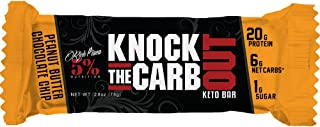 Rich Piana 5% Nutrition KTCO Keto Bar Peanut Butter Chocolate Chip Flavor (10 Count), 20g Protein 68g Serving Size …