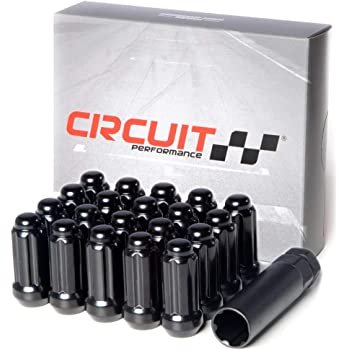 2 1.87 Inner Height 47.5mm Conical 60 Degree Seat Height Pack of 24 + Key M14x2.0 Thread Black-Chrome Finish 51mm Mastiff 49324BK Acorn Spline Lug Nut Set