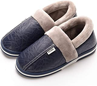 Women's Men's Winter House Warm Plush Slippers Suede Indoor Outdoor Casual Slip On Shoes Memory Foam Anti-Skid Rubber Sole Mules Clogs