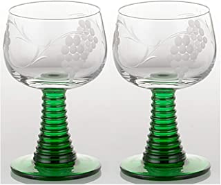 Best german roemer wine glasses green Reviews