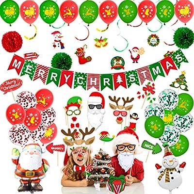 73pcs Christmas Balloons Decoration Set, Merry ...