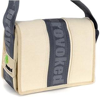 HAB & GUT HAB & GUT -E4022A-STRIPE- Messenger Bag Mini-PROVOKED, aus Segeltuch mit Klettbandverschluss BEIGE 26 x 19 cm