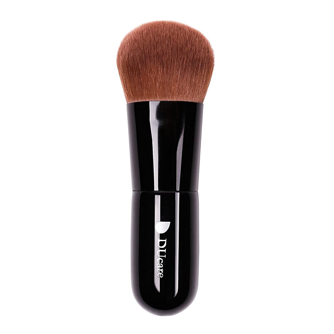 公平一土砂降りドゥケア(DUcare) 化粧筆 ファンデーションブラシ フェイスブラシ 最高級のタクロンを使用