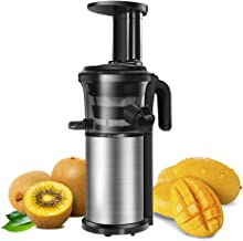 Slow Juicer, Sagnart Juicer Machine for Vegetables & Fruits, Easy to Clean,Portable Vertical Juicer with Reversal Function, Masticating Juicer with Juice Jug and Cleaning Brush.BPA-free