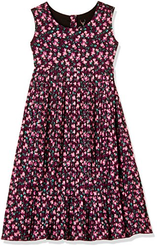 Allen Solly Junior Girls' A-Line Midi Dress (AKGDR318828_Grey_3-4 Years)