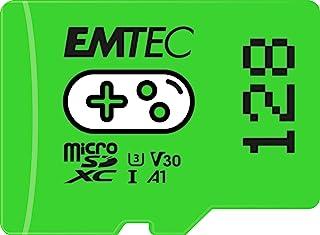 EMTEC Gaming ECMSDM128GXCU3G MicroSD-kaart 128 GB schrijfsnelheid 95 MB/s leessnelheid 100 MB/s groen