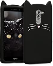 kwmobile Silicone Case Compatible with Huawei Honor 6X / GR5 2017 / Mate 9 Lite - Soft Protective Mobile Cell Phone Cover - Cat