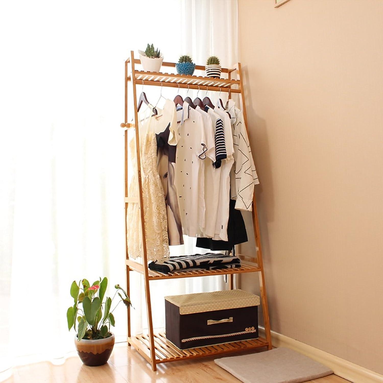 Coat Rack Nan Bamboo Bedroom Foyer Living Room Coat Rack Modern Flooring Simple Clothes Hanger Drying Hat Rack (Size   50cm)