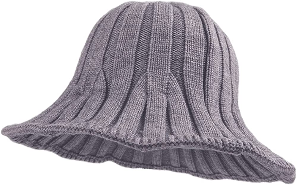 ZffXH Winter Cable Knit Max 53% OFF Hat Warm Wool Knitted Cheap mail order shopping Hats Bucket Cloche