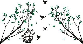Birds Tree Branch and Birdcage Wall Decals Vinyl Sticker Mural Art Room Decor