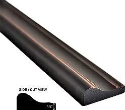 Oil Rubbed Bronze Metallic Resin Decorative Tile Trim Molding Universal Chair Rail Accent Piece Tile 1 2/3X 12