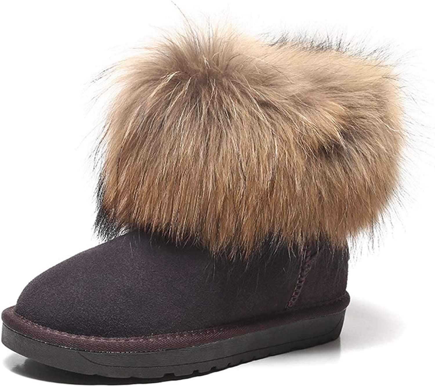 Kyle Walsh Pa Women Snow Boots Soft Fur Comfortable Round Toe Ladies Winter Trendy Ankle Booties